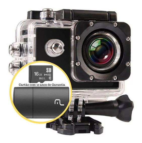 Câmera Filmadora Ação Capacete Mergulho + Cartão Memória 16g