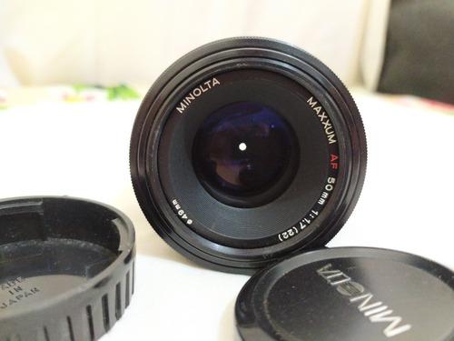 Lente Minolta Sony 50mm 1.7 Em Bom Estado