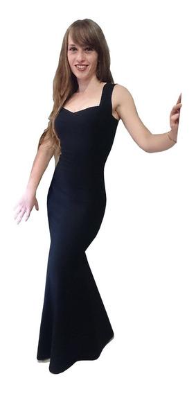 Vestido Sirena Elastizado Fiesta Largo Noche Elegante Pin Up