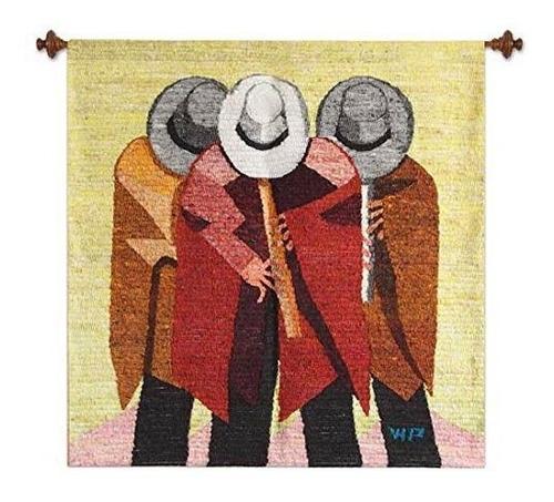 Novica  Jugadores De Quena Flauta Lana Tapestry