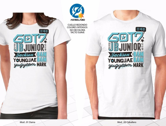 Got7 Got 7 Grafico Playera 12msi Con Envió