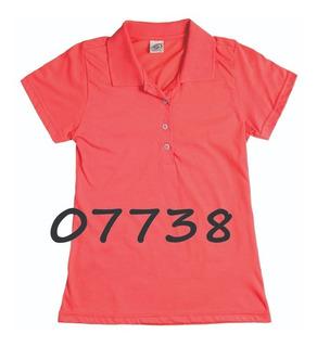 Camisa Pólo Feminina Manga Curta Sem Bolso - Ref. 10893