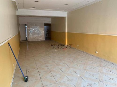 Salão Para Alugar, 140 M² Por R$ 3.300,00/mês - Quarta Parada - São Paulo/sp - Sl0098