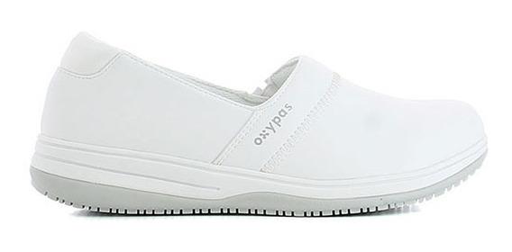 Zapatos Oxypas Suzy Médicos,dentistas,enfermera,chef Blanco