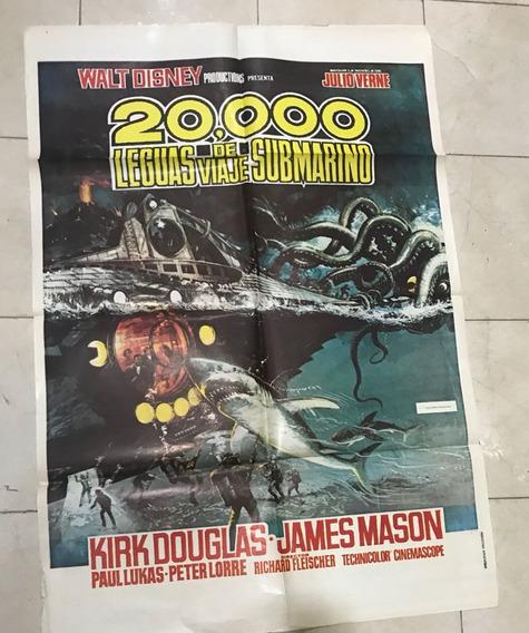Afiche De Cine - 20.000 Leguas De Viaje Submarino-disney