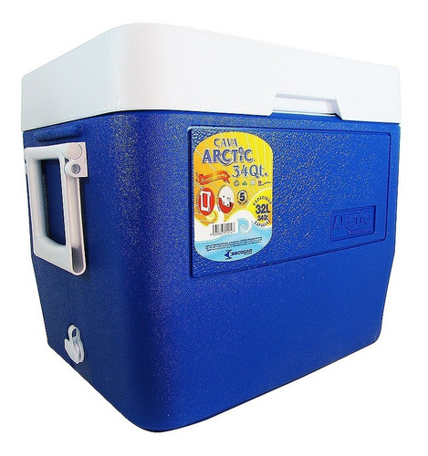 Cava Playera Termica De Fibra 32 Litros Arctic Decocar 34qts