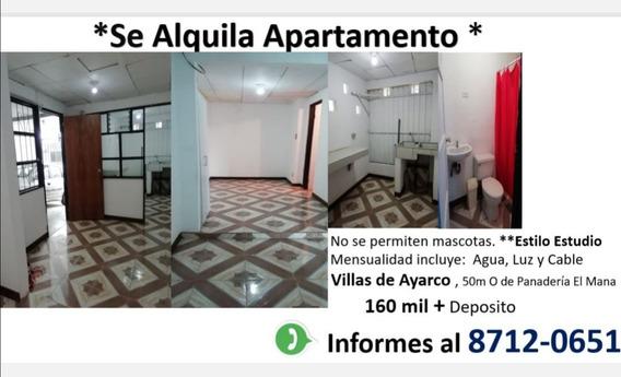 Alquiler De Apartamento Estilo Estudio
