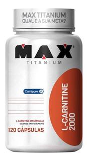L-carnitina 2000 - 120 Cápsulas - Max Titanium