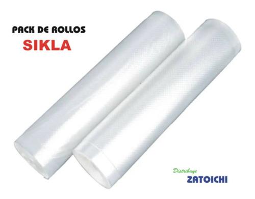 Pack Repuesto 2 Rollos De Bolsas Envasadora Al Vacío Sikla