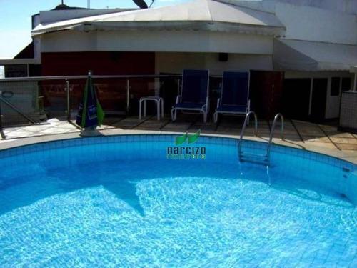 Cobertura Com 4 Dormitórios À Venda, 400 M² Por R$ 2.200.000,00 - Rio Vermelho - Salvador/ba - Co0018