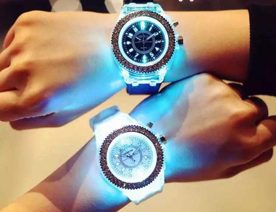 Relógio Luminoso Flash Luz