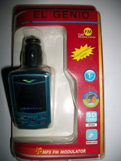 Transmisor Mp3 Usb Con Control Para Carro Radio