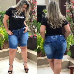 Bermuda Jeans Shorts Roupas Femininas Plus Size Do 46 Ao 60