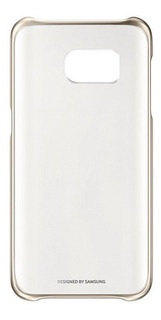 Capa Original Clear Cover Samsung Galaxy S7 - Dourada
