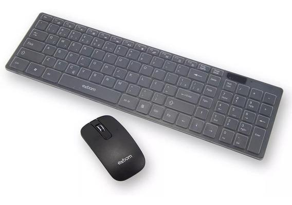 Kit Teclado E Mouse Sem Fio Exbom Wireless