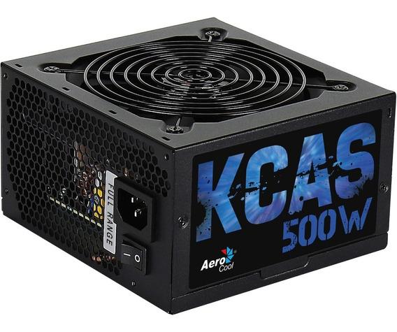 Fonte Gamer Aerocool Kcas 500w Reais 80 Plus Bronze En53367
