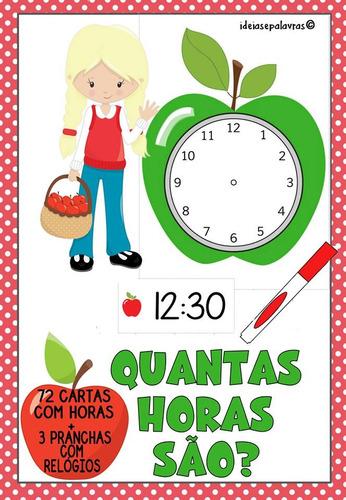 Jogo Pedagógico Quantas Horas São   Educação Infantil