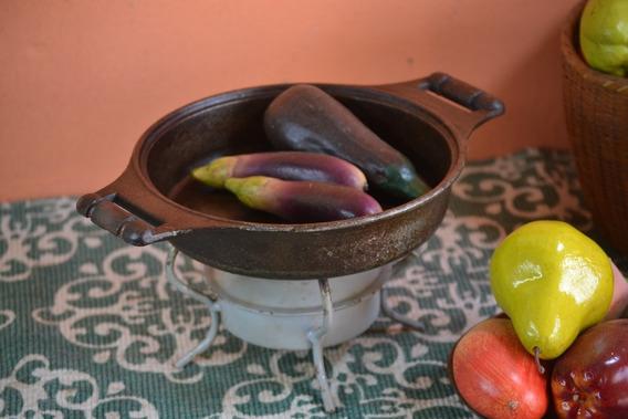 Frigideira Panela Antiga Ferro Caçarola Trinco Gourmet Grill