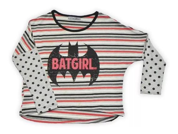 Remera Nena Manga Larga , Batgirl, Nina Rabolini