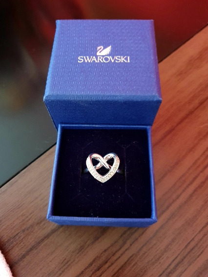 Anel Heart Infinito Swarovski Originals Usado