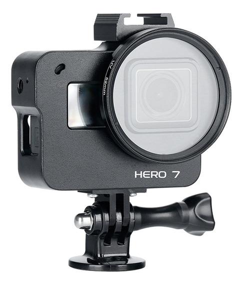 Para Gopro Hero 7 Ação Esporte Câmera De Alumínio Liga De Al