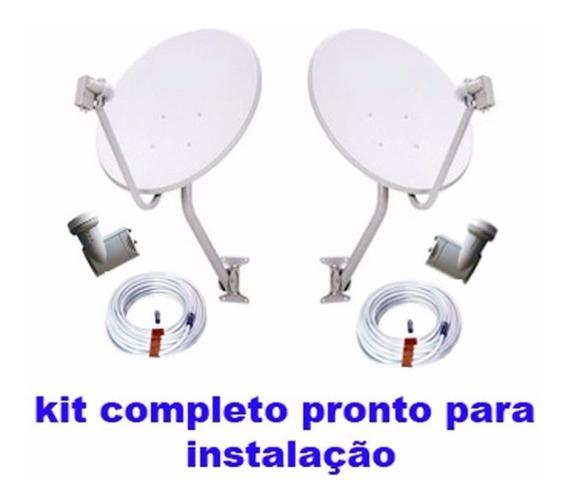 Kit 2 Antenas Comple + Instalação Completa Para Barueri