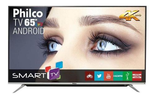 Imagem 1 de 6 de Smart Tv 4k Android 65  Philco Bivolt Ph65g60dsgwag