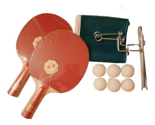 Set Ping Pong Paletas Pioneer + 6 Pelotas + Red + Soporte
