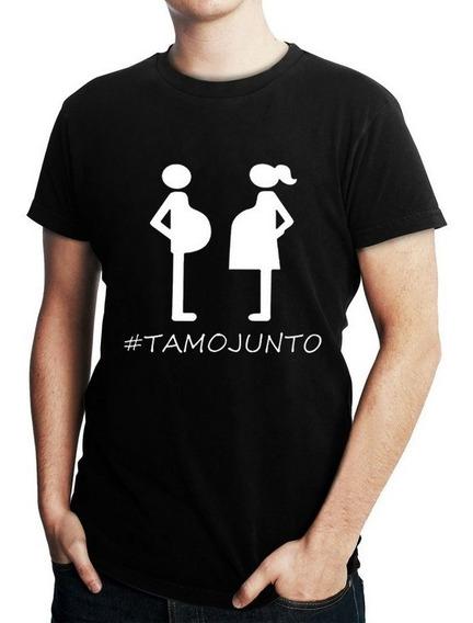 Camiseta Masculina Engraçada Papai Gestante