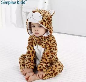 Macacão Infantil Pelúcia Leopardo (importado)