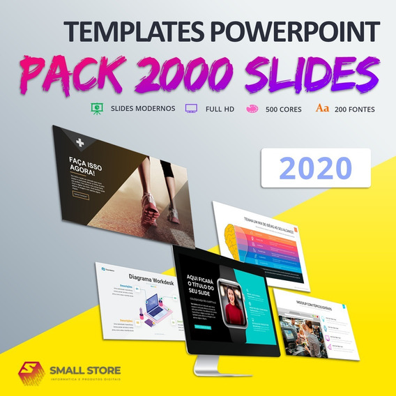 Templates Powerpoint - Mais De 2000 Slides Powerpoint 2019