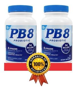 2 Frascos Probiótico Pb8 120 Caps 14 Bilhões Eua Importado