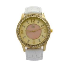 Relógio Feminino Quartzo Gw180043 Pulseira De Couro Genuíno