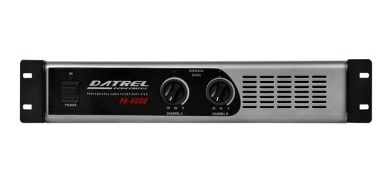 Amplificador De Potencia 800 W Datrel Pa8000 Profissional