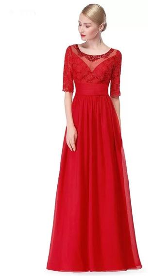 Vestido De Mujer De Noche De Gala Cocktail, Largo Elegante