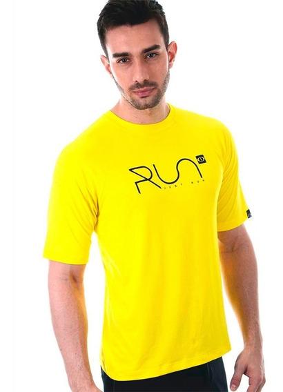 Camiseta Run Dry Fit Perforated Amarela Academia Running