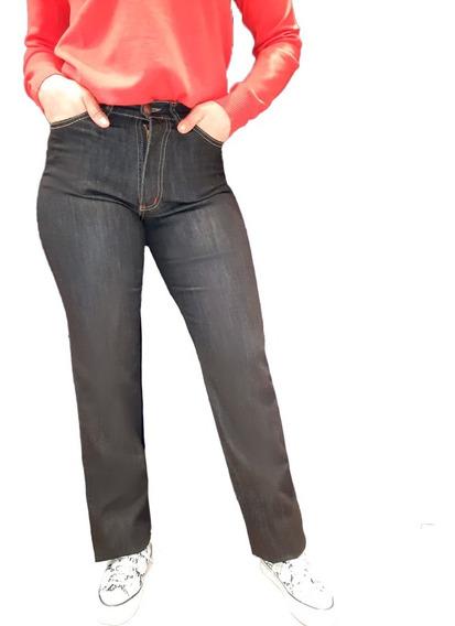 Jean Mujer Tiro Alto Recto Clasico Talles Grandes