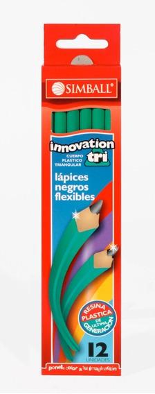 Lápices Negros Grafito Hb Nº2 Simball Innovation Caja X12