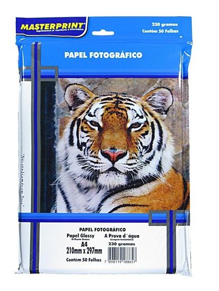 Papel Fotográfico Glossy Masterprint A4 230 Gramas 100 Folha