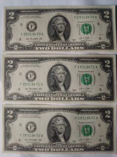 Billetes De 2 De Colección Americanos
