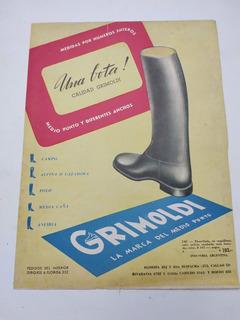 Lote Clipping 3 Publicidades Calzados Grimoldi (896) Botas