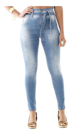 Calça Jeans Feminina Sawary Skinny Com Cadarço - 259195