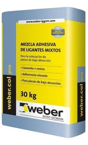 Pegament Para Porcelanato Weber Col Pro 30 Kg