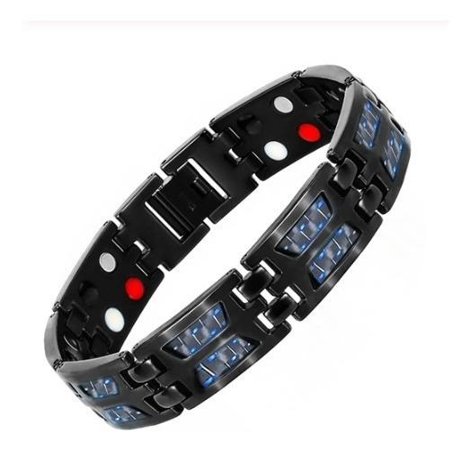 Pulseira Magnética 4 Elementos Fir Bracelete De Titânio
