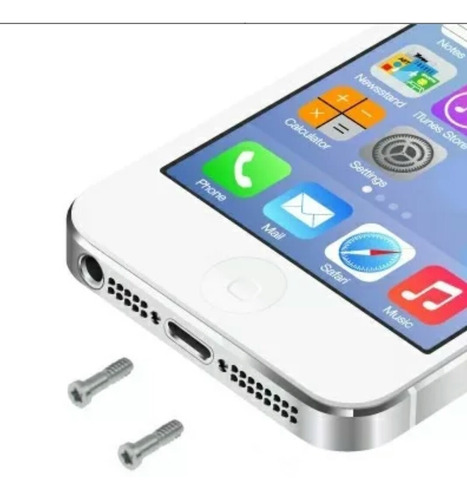 Tornillos Dock Inferior iPhone 4 4s 5 5s Original Apple Usa