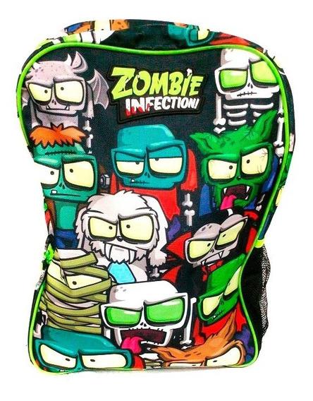 Zombie Infection Mochila Escolar 17 Estampada Negra B17-a