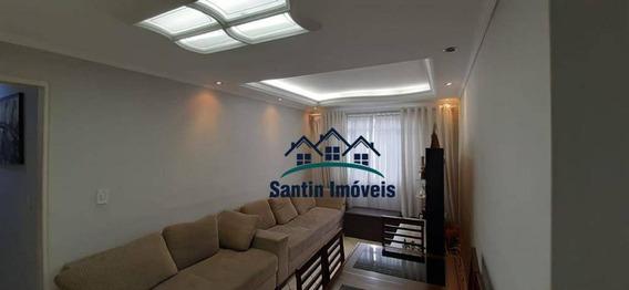 Apartamento Com 2 Dormitórios,sala E Cozinha Amplas,vaga De Garagem À Venda, 62 M² Por R$ 221.000 - Jardim Alzira Franco - Santo André/sp - Ap1444