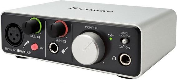 Interface Audio Focusrite Itrack Solo Usb Garantia 1 Ano