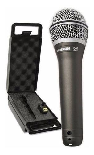 Imagem 1 de 6 de Microfone Samson Dinâmico Profissional Q7 Super Cardióide