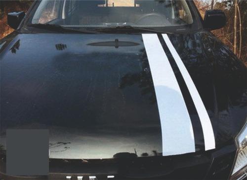 Calco Franjas Para Capot Compatible Auto Camioneta 1.20 X 19